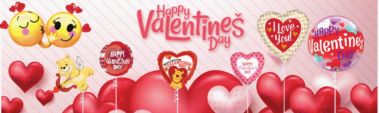 Luftballons Valentistag