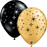 Luftballon Sparkle and Swirls gold