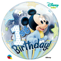 Single Bubble - Happy Birthay mickes mouse 1 Jahr