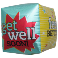 Folienballon get well
