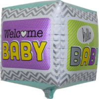 Welcome Baby Cube