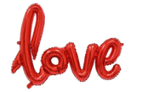 love script folienballon rot