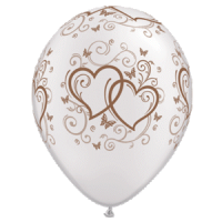 Latexballon verschlungene Herzen Rose Goldr
