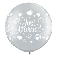 Riesen Rundballon Just Married 90 cm