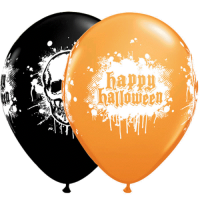 Halloween Luftballon haunted skull