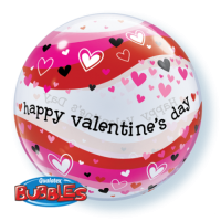Qualatex Bubble Ballon Happy Valentines day