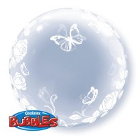 Deco Bubble roses& butterflies 24in/61cm