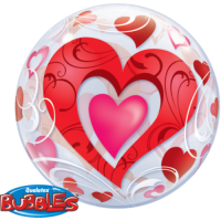 Qualatex Bubble Ballon herz