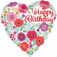 Happy Birthday - Blumenmuster