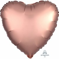 Satin Luxars Colour Herz Rose copper