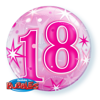 Single Bubble - Geburtstag, Pink 18