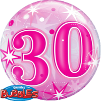 Single Bubble - Geburtstag, Pink 30