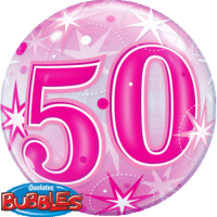 Single Bubble - Geburtstag, Pink 50