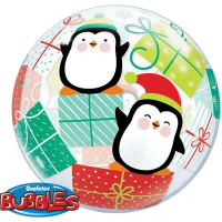 Single Bubble -christmas pinguin