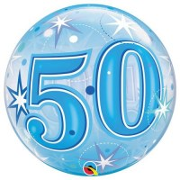 Single Bubble - Geburtstag, Blau 50