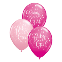 Rundballon Baby Girl