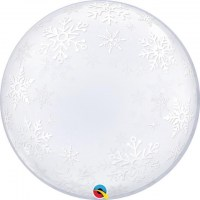 Deco Bubble Frosty Snowflakes
