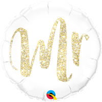 Folienballon Mr Glitter Gold