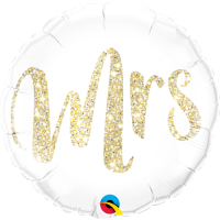 Folienballon Mrs Glitter Gold