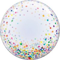 Qualatex Bubble Ballon confetti bunt