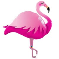 Folienfigur Pink Flamingo