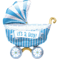 Folienballon Kinderwagen its a boy