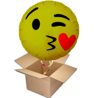 Ballongruss emoji kissing heart