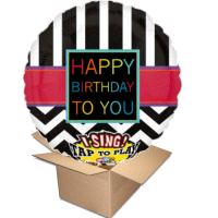 Ballongruss Singener Ballon Happy Birthday to you