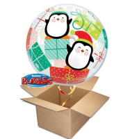 merry christmas pinguin bubble