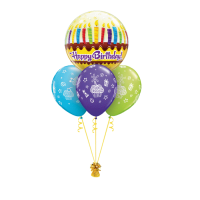 Ballonbouquet Birthday bubble kerzen