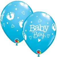 Baby boy Footprints & Hearts