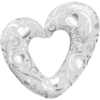 hearts pearl white