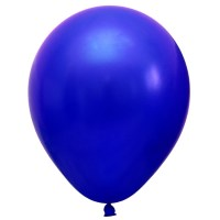 Metallic  Luftballon Blau